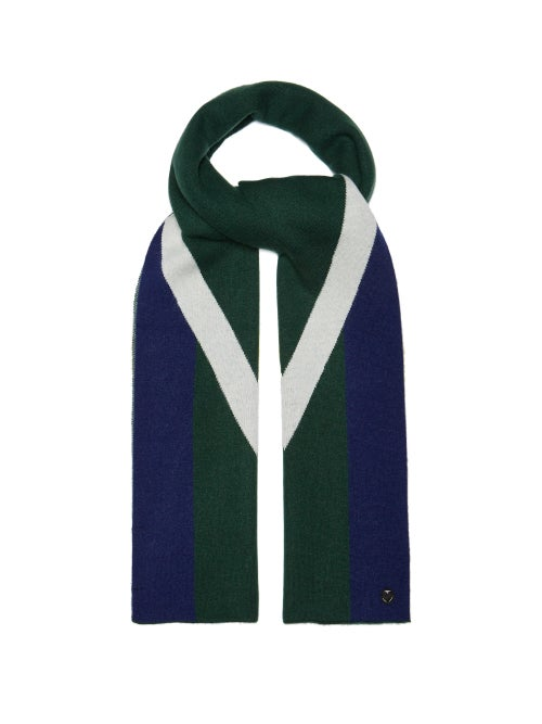 Charlotte Simone Striped Wool And Cashmere Blend Scarf OnceOff