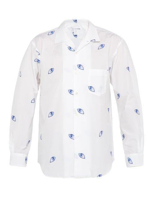 Comme Des Garçons Shirt Eye Jacquard Woven Cotton Shirt OnceOff