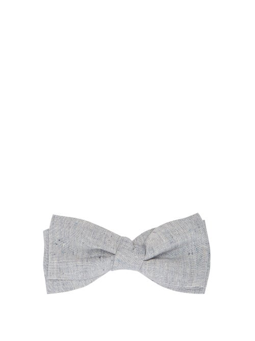 Comme Les Loups Doesburg Cotton Chambray Bow Tie OnceOff