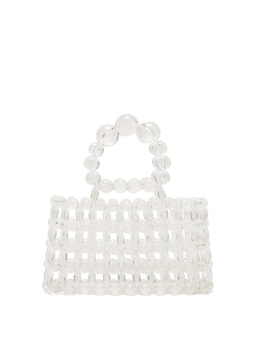 Cult Gaia Cora Top Handle Beaded Acrylic Bag OnceOff