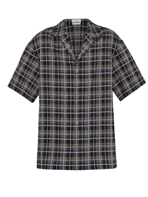 Deveaux Checked Short Sleeved Crepe Shirt OnceOff