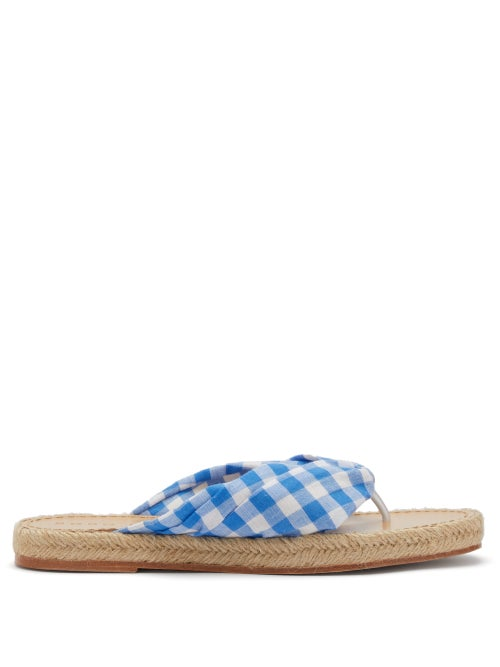 Dodo Bar Or Catalina Gingham Sandals OnceOff