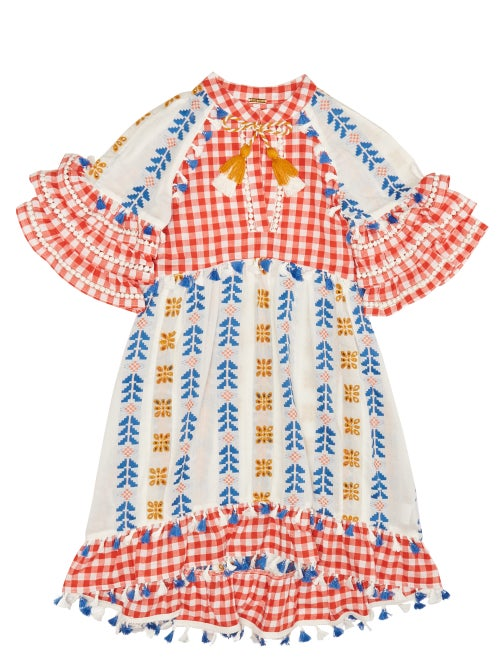 Dodo Bar Or Kids Lola Embroidered Cotton Dress OnceOff