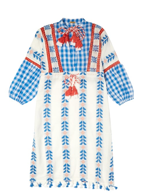 Dodo Bar Or Kids Miguel Embroidered Cotton Dress OnceOff