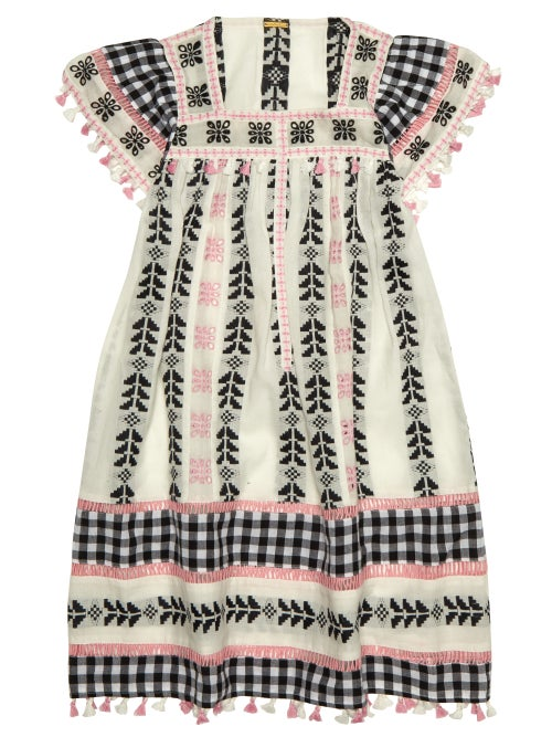 Dodo Bar Or Kids Theresa Embroidered Cotton Dress OnceOff