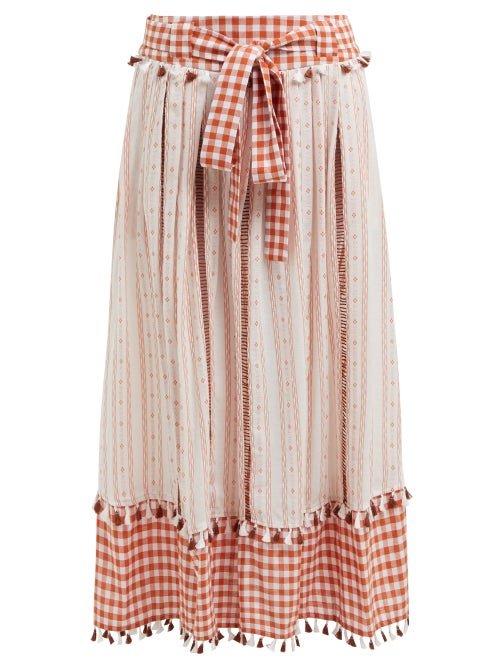 Dodo Bar Or Rodica Gingham Cotton Skirt OnceOff