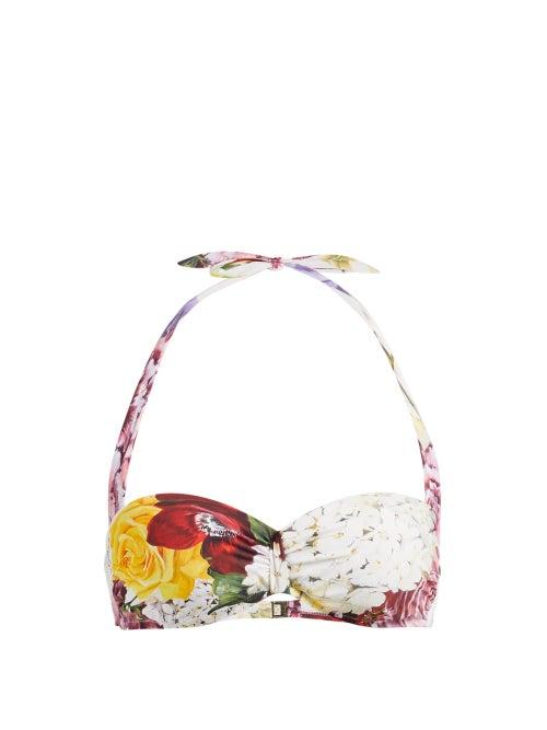 Dolce & Gabbana Ortensie Floral Print Balconette Bikini Top OnceOff