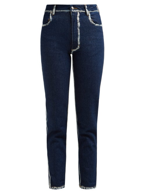 Eckhaus Latta Painted Seam Cropped Skinny Jeans OnceOff
