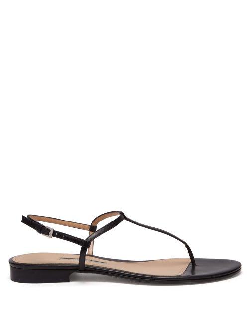 Emme Parsons Cecilia T Bar Strap Leather Sandals OnceOff