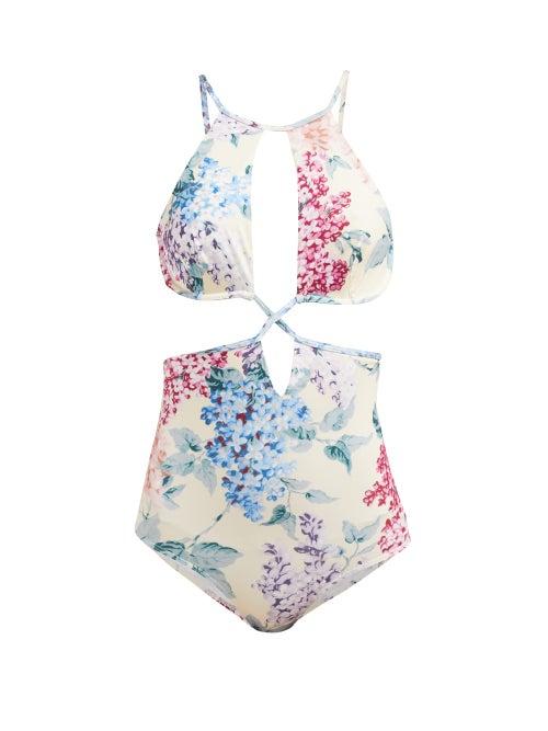 Ephemera Bloom Printed Cut Out Swimsuit OnceOff