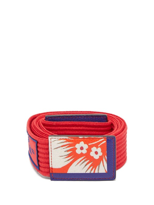 Etro Floral Printed Ribbed Cotton Tie Belt OnceOff