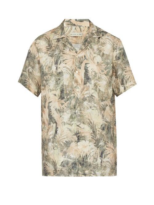 Etro Palm Print Linen Shirt OnceOff