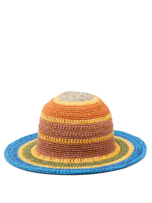 Etro Striped Crocheted Cotton Blend Hat OnceOff