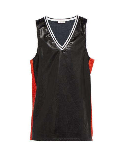 Faith Connexion Leather Effect Basketball Tank Top OnceOff