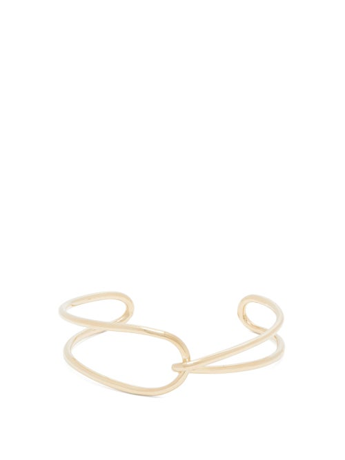 Fay Andrada Moni Curved Interlocking Brass Cuff OnceOff