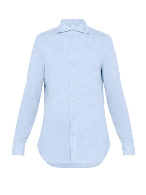 Finamore 1925 Gaeta Spread Collar Linen Shirt OnceOff