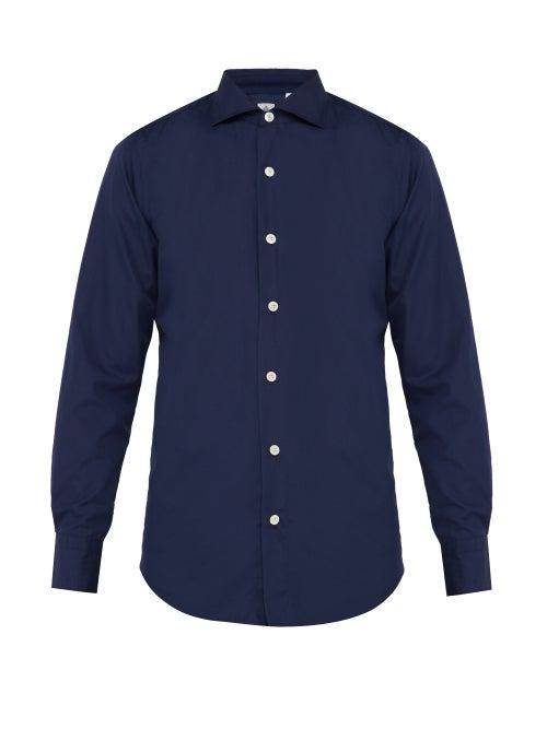 Finamore 1925 Seattle Cotton Poplin Shirt OnceOff