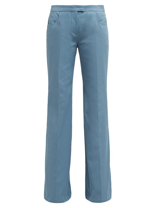 Françoise Flared Leg Cotton Twill Trousers OnceOff