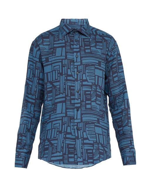 Frescobol Carioca Linha Printed Linen Shirt OnceOff