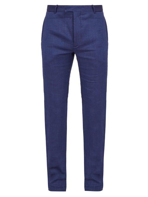 Frescobol Carioca Straight Leg Linen Blend Trousers OnceOff