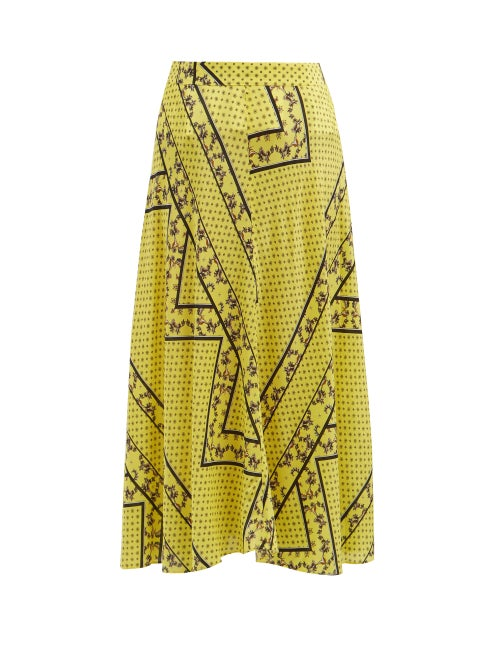 Ganni Hemlock Bandana Print Silk Blend Skirt OnceOff