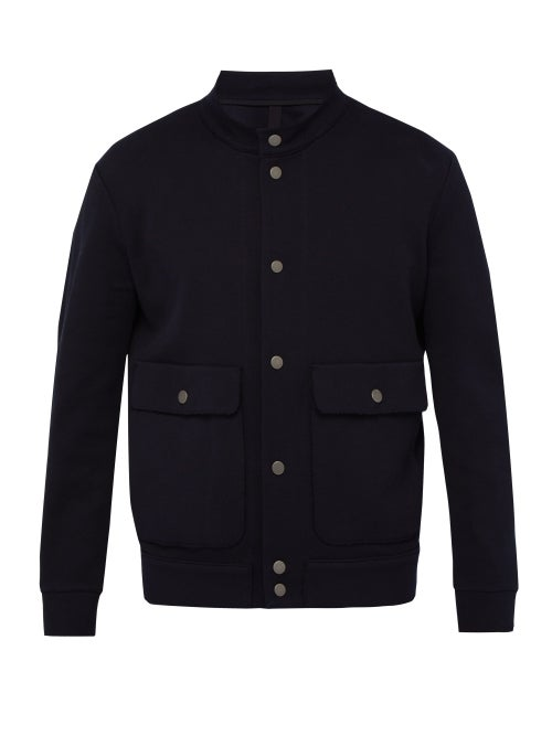 Harris Wharf London Flap Pocket Cotton Bomber Jacket OnceOff
