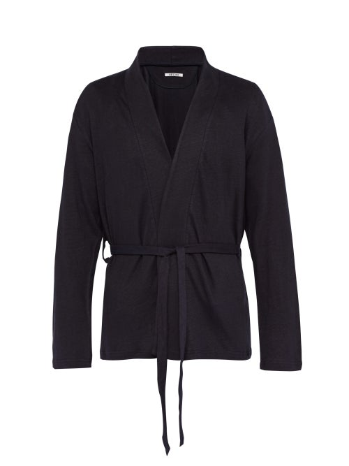 Hecho Belted Linen Smoking Jacket OnceOff