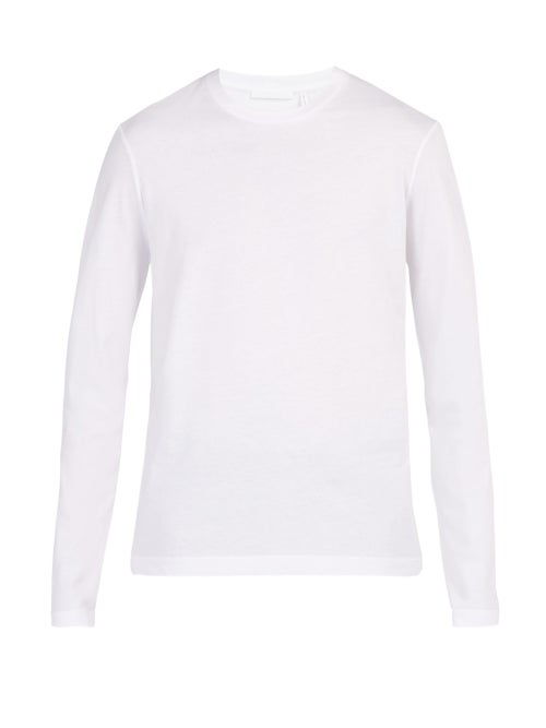 Helmut Lang Logo Printed Long Sleeved Cotton T Shirt OnceOff