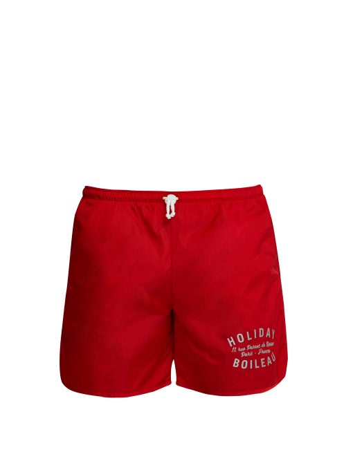 Holiday Boileau Logo Print Swim Shorts OnceOff