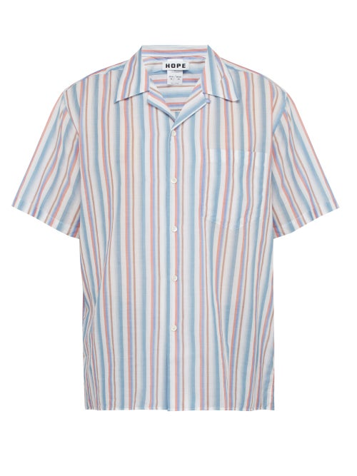 Hope Camp Striped Cotton Shirt OnceOff