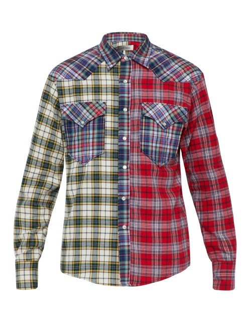 Isabel Marant Billy Patchwork Checked Cotton Shirt OnceOff