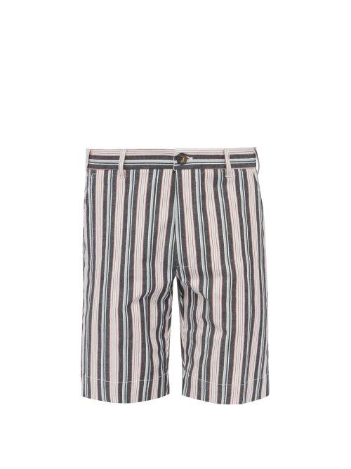 J.W. Brine New Chris Striped Cotton Blend Shorts OnceOff