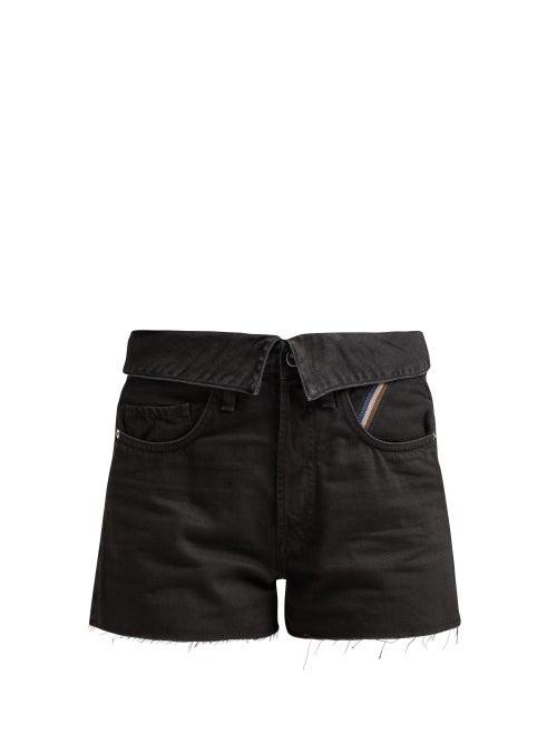 Jean Atelier Flip Fold Over Denim Shorts OnceOff