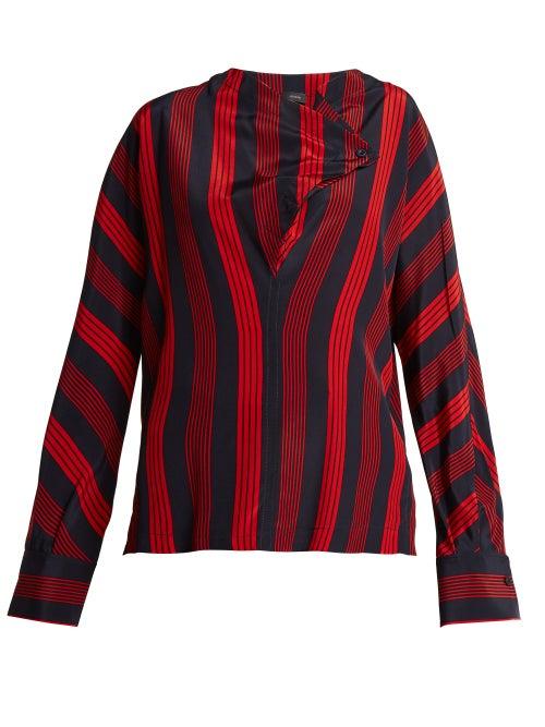 Joseph Leigh Striped Silk Blouse OnceOff