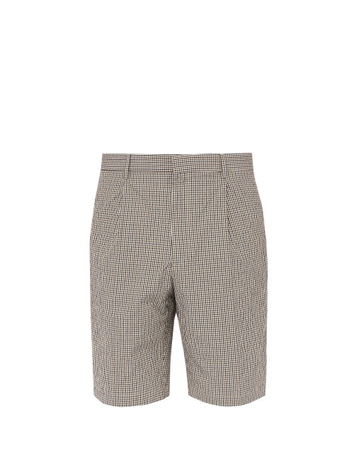 Joseph Plage Micro Check Cotton Blend Shorts OnceOff