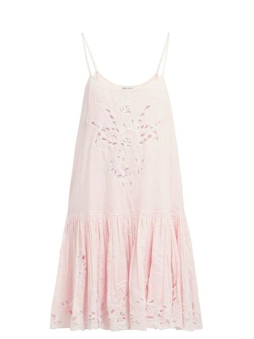 Juliet Dunn Floral Broderie Anglaise Cotton Mini Dress OnceOff