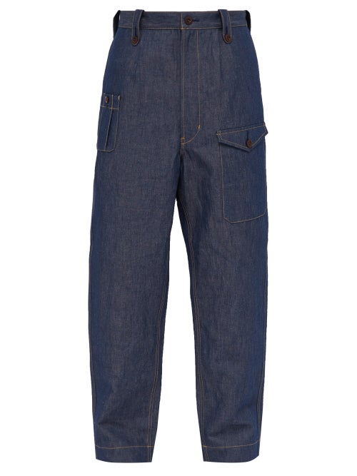 Junya Watanabe Loose Fit Cotton Blend Jeans OnceOff