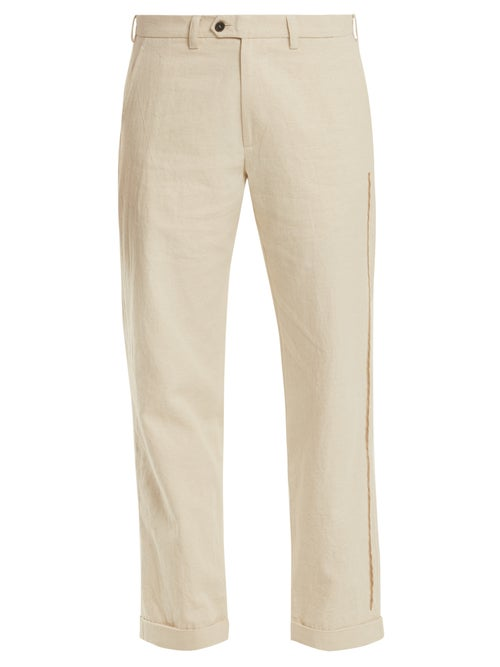Jupe By Jackie Ebeko Embroidered Mid Rise Cotton Trousers OnceOff