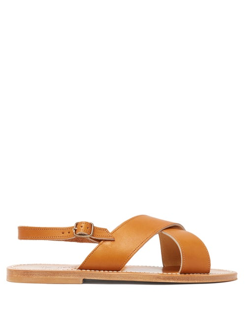 K.Jacques Osorno Crossover Leather Sandals OnceOff