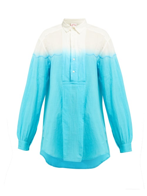 Kilometre Paris Dip Dyed Cotton Shirt OnceOff