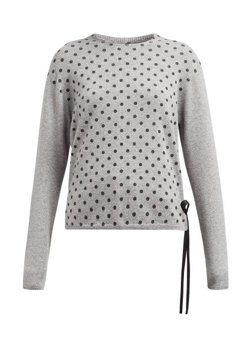 La Fetiche Polka Dot Print Cashmere Sweater OnceOff