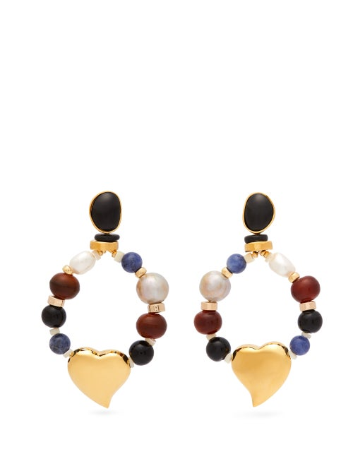 Lizzie Fortunato Candy Heart Multi Stone Earrings OnceOff
