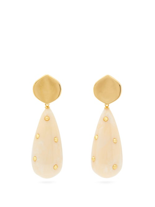 Lizzie Fortunato Prism Gold Plated Drop Earrings OnceOff