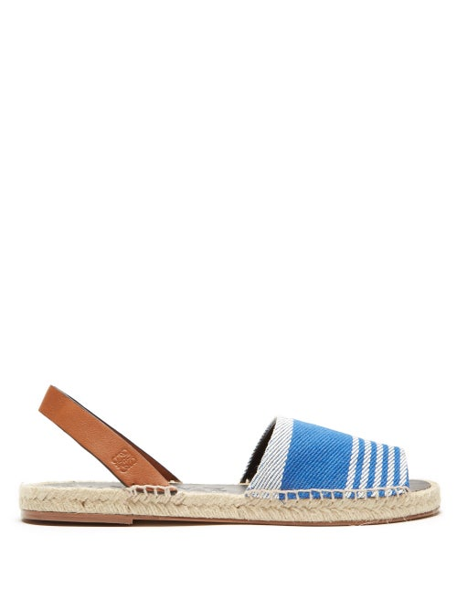 Loewe Leather And Canvas Espadrilles OnceOff