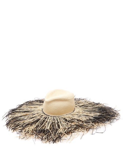 Lola Hats Porcupine Fringed Raffia Hat OnceOff