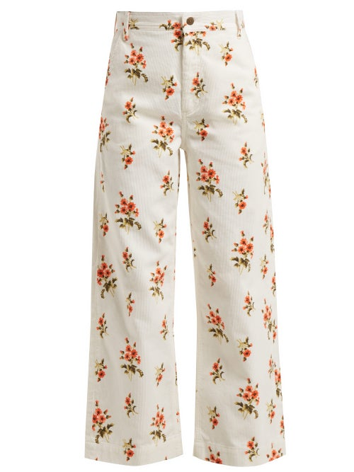M.I.H Jeans Lake Floral Print Corduroy Trousers OnceOff