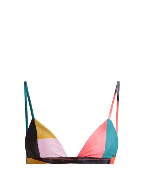 Mara Hoffman Astrid Triangle Bikini Top OnceOff