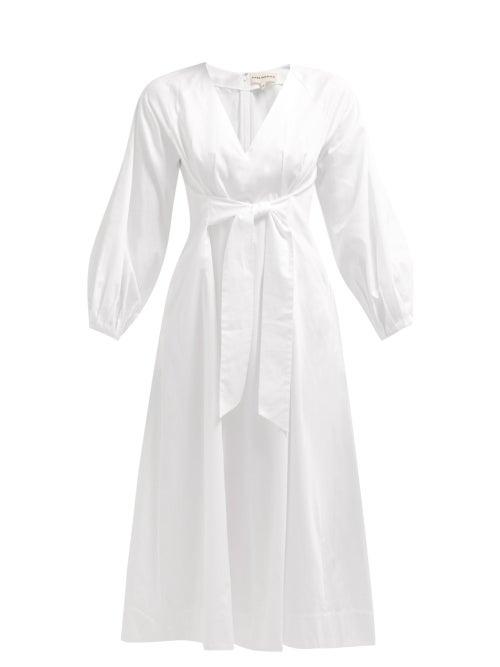 Mara Hoffman Vivica Tie Front Cotton Midi Dress OnceOff