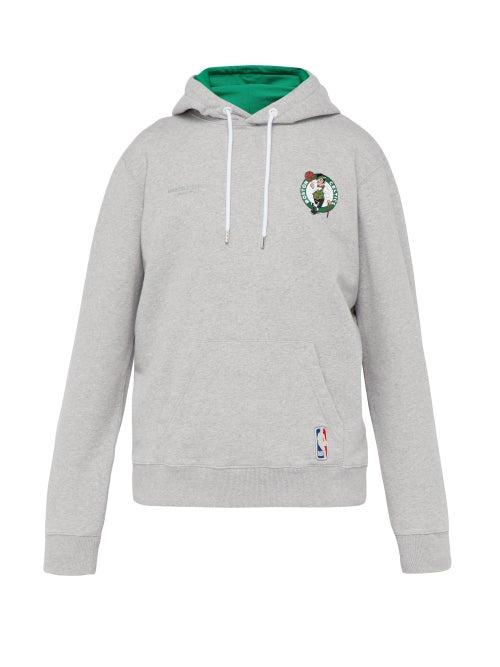 Marcelo Burlon Boston Celtics Appliqué Cotton Hooded Sweatshirt OnceOff