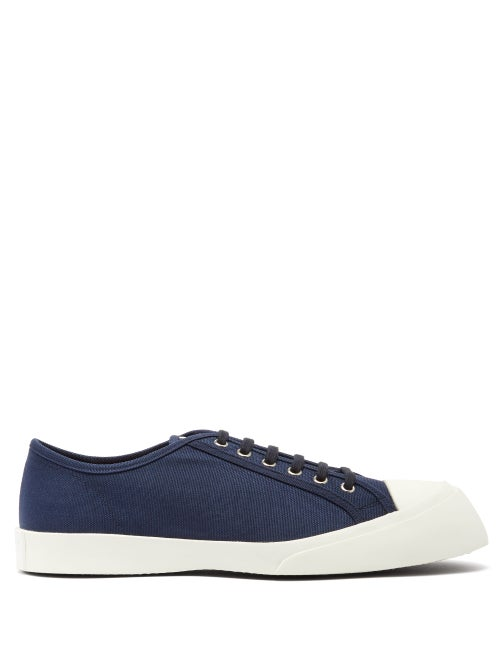 Marni Exaggerated Sole Low Top Canvas Trainers OnceOff